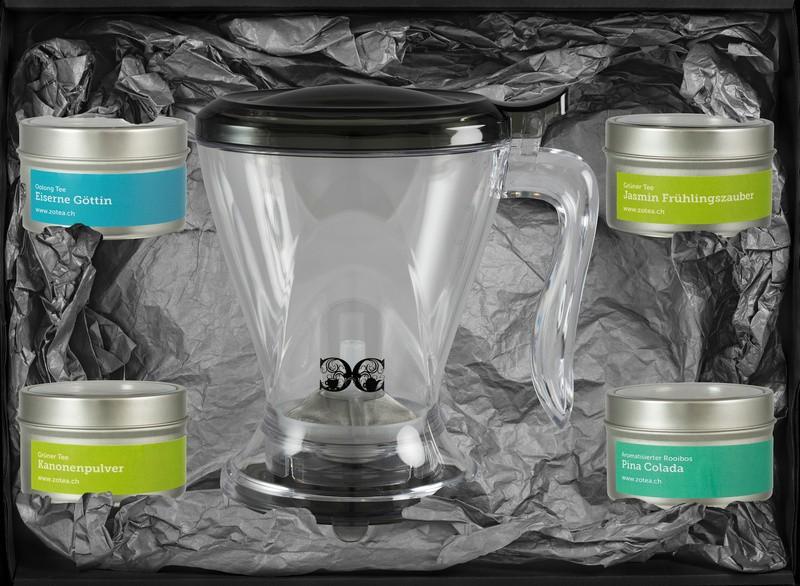 Probierset mit 4 Sorten und Magic Tea Maker